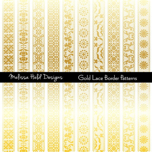 Gold Lace Border Patterns