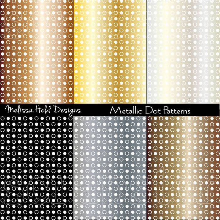 Metallic Dot Patterns Digital Paper & Backgrounds Melissa Held Designs    Mygrafico