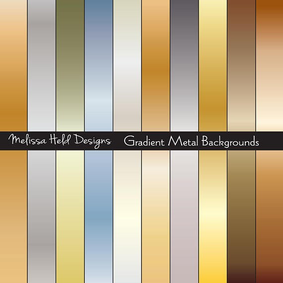 Gradient Metal Backgrounds Digital Paper & Backgrounds Melissa Held Designs    Mygrafico