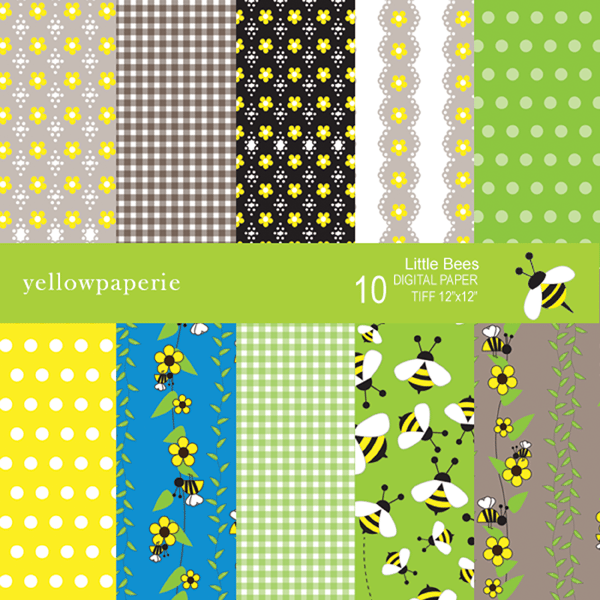 Little Bees Collection  Yellowpaperie    Mygrafico