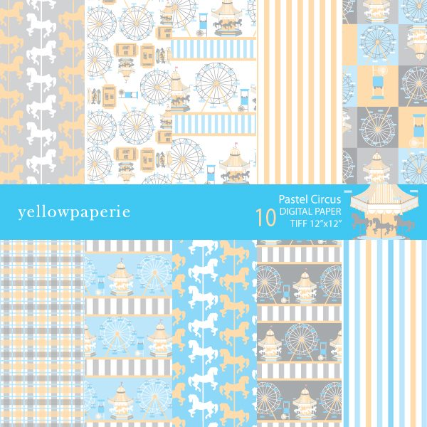 Pastel Circus Collection  Yellowpaperie    Mygrafico