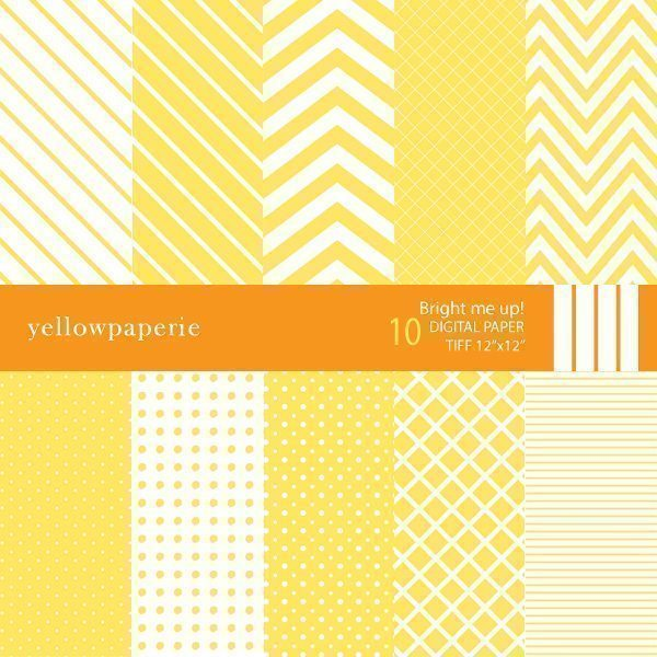 Bright me up Digital Papers & Backgrounds Yellowpaperie    Mygrafico