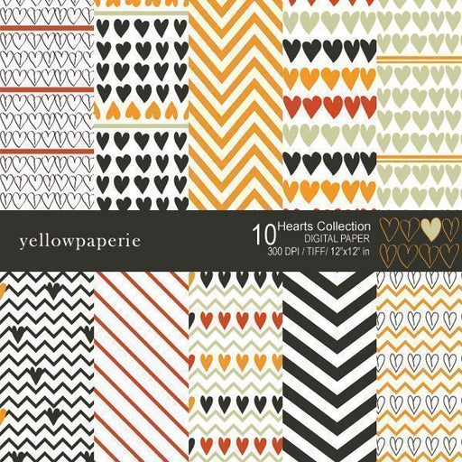 Hearts Collection  Yellowpaperie    Mygrafico