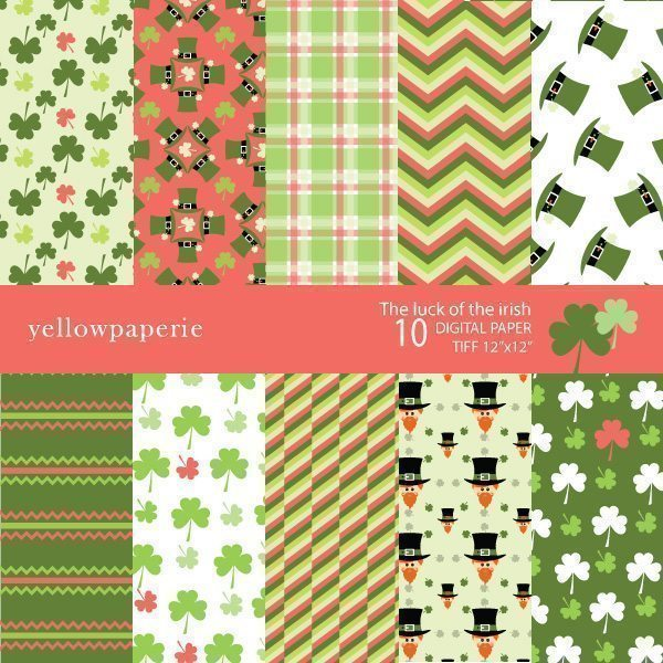THE LUCK OF THE IRISH  Yellowpaperie    Mygrafico