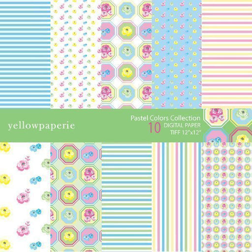 PASTEL COLORS COLLECTION  Yellowpaperie    Mygrafico