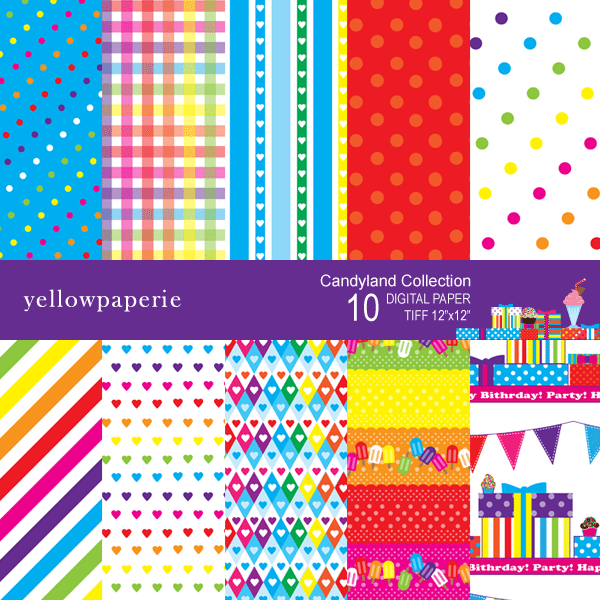 Candyland Collection  Yellowpaperie    Mygrafico
