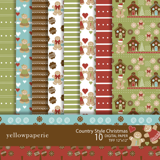 Country Style Christmas  Yellowpaperie    Mygrafico