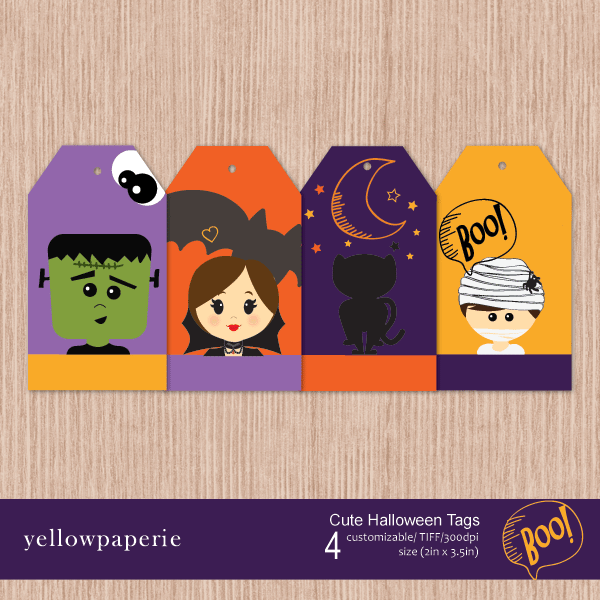 Cute Halloween Tags Party Printable Templates Yellowpaperie    Mygrafico