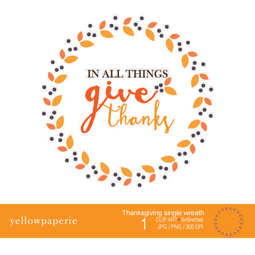 Thanksgiving single wreath Freebie Yellowpaperie    Mygrafico
