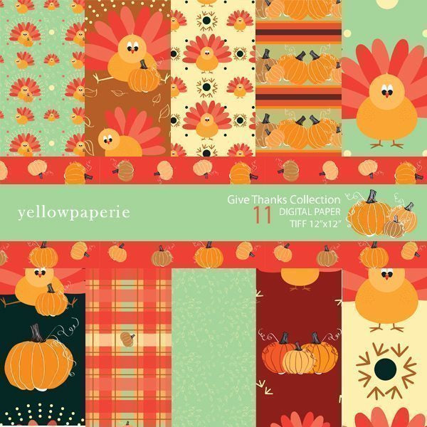 Give Thanks  Yellowpaperie    Mygrafico