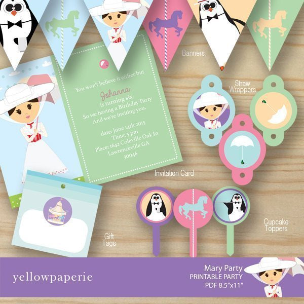 Magical Mary Party Package Party Printable Templates Yellowpaperie    Mygrafico