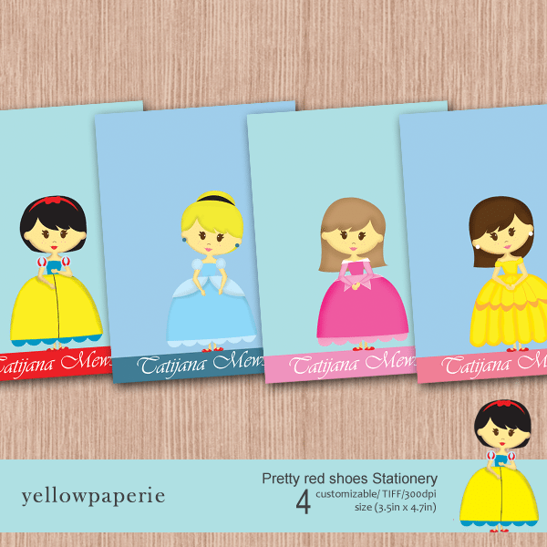 Pretty red shoes Stationery  Yellowpaperie    Mygrafico