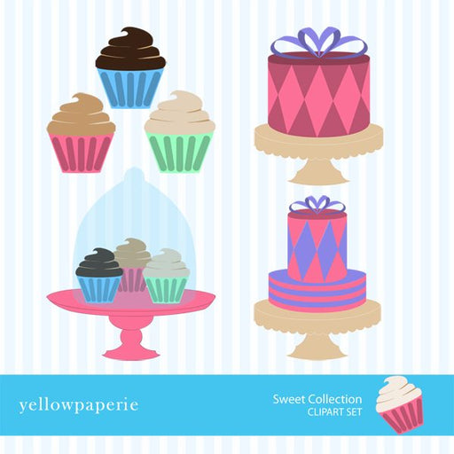 Sweet Collection Clipart  Yellowpaperie    Mygrafico