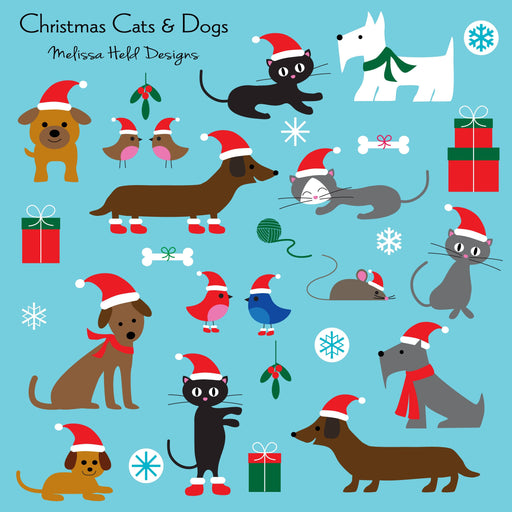 Christmas Cats and Dogs Clipart Cliparts Melissa Held Designs    Mygrafico
