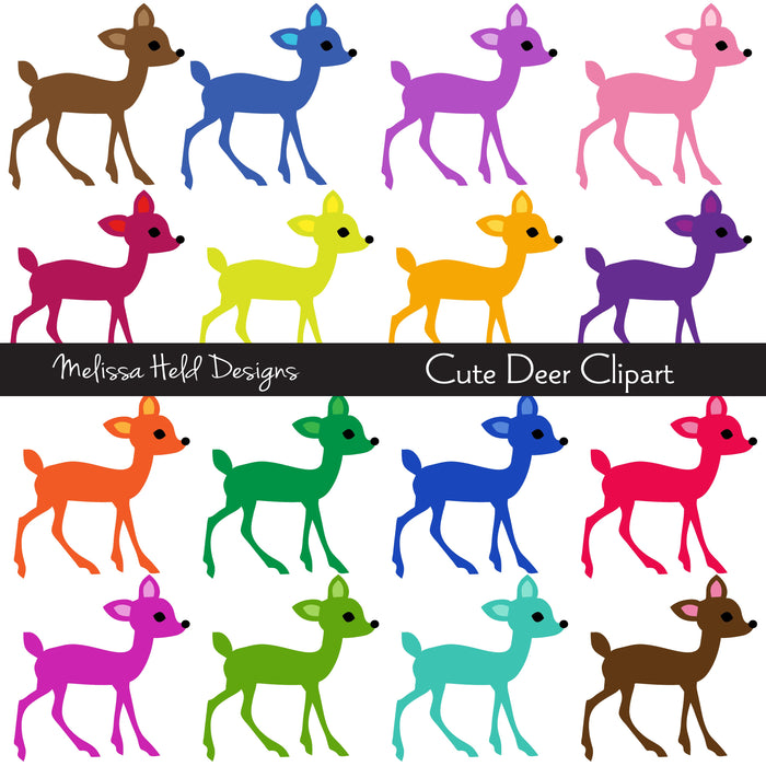Cute Deer Clipart Cliparts Melissa Held Designs    Mygrafico