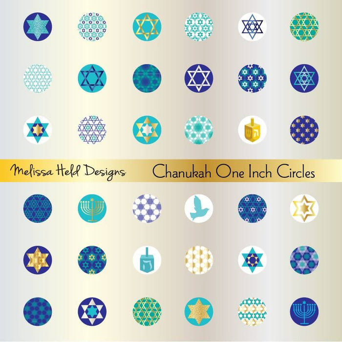 Chanukah One Inch Circles Clipart Cliparts Melissa Held Designs    Mygrafico