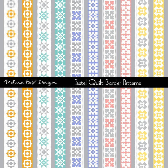 Pastel Quilt Border Patterns Cliparts Melissa Held Designs    Mygrafico