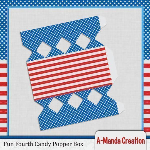 Fun Fourth of July Candy Popper Box SVG  A-Manda Creation    Mygrafico