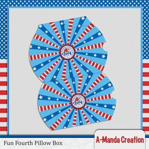 Fun Fourth of July Pillow Box SVG  A-Manda Creation    Mygrafico