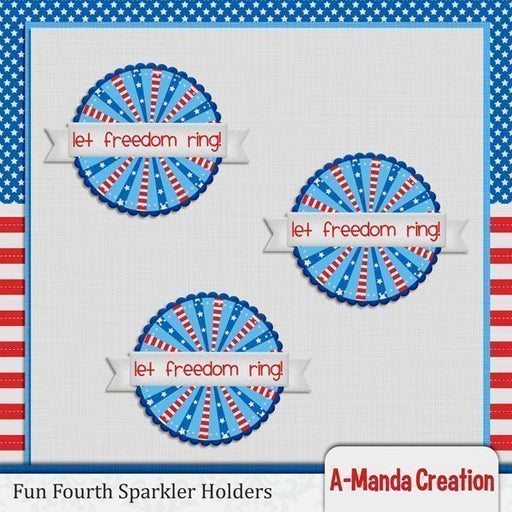 Fun 4th of July Sparkler Holders SVG  A-Manda Creation    Mygrafico