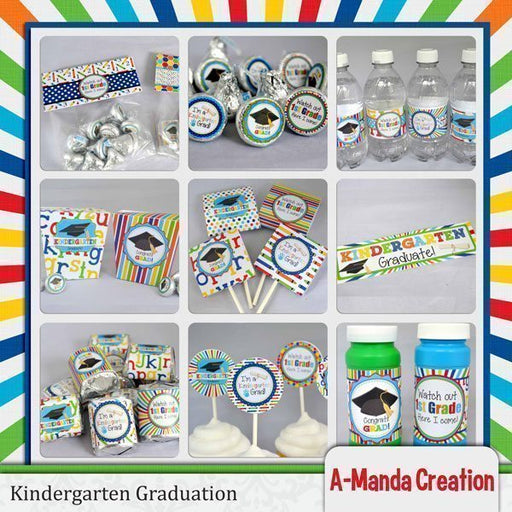 Kindergarten Graduation Printable Party Bundle  A-Manda Creation    Mygrafico