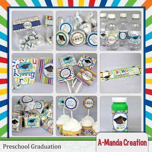 Preschool Graduation Printable Bundle  A-Manda Creation    Mygrafico