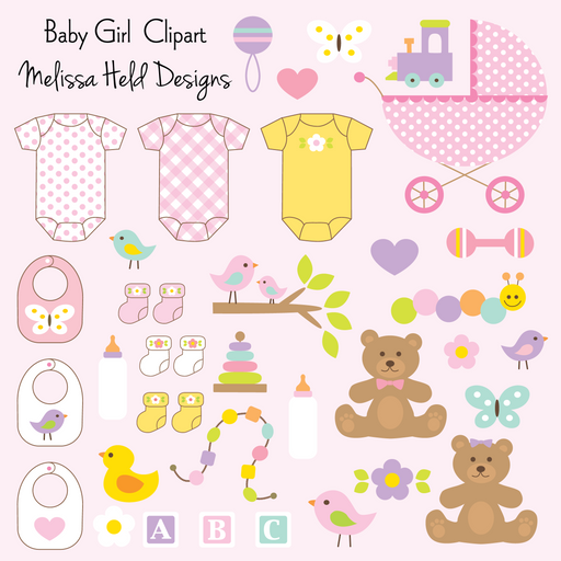 Baby Girl Clipart Cliparts Melissa Held Designs    Mygrafico