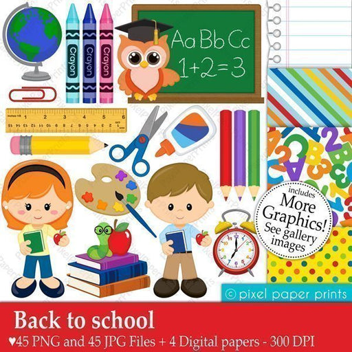 Back to School  Pixel Paper Prints    Mygrafico