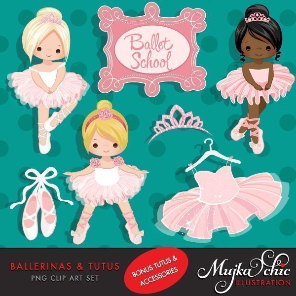 Ballerinas and Tutus Clipart  Mujka Chic    Mygrafico