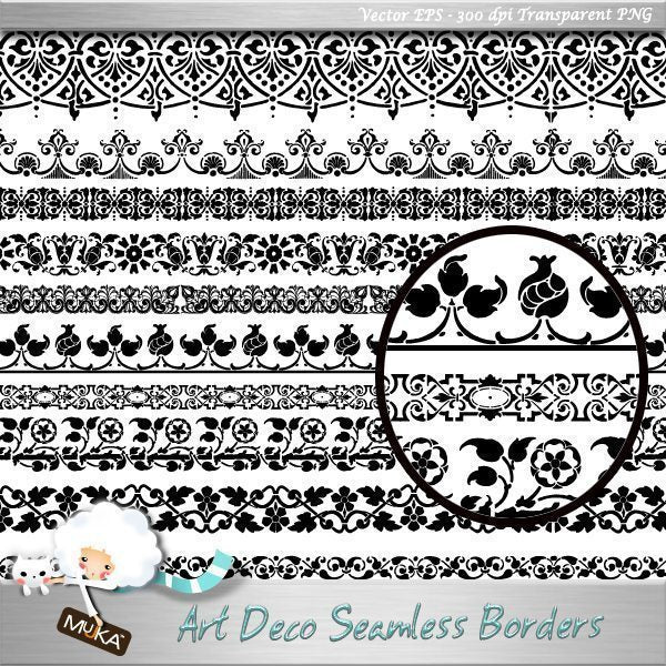Art Deco Borders  Mujka Chic    Mygrafico