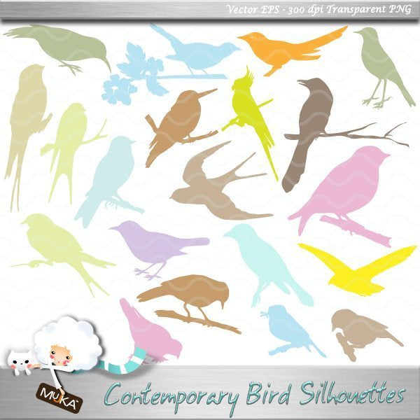 Contemporary Bird Silhouettes  Mujka Chic    Mygrafico