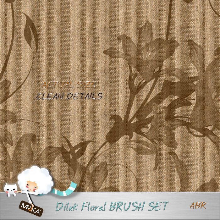 Dilek Floral Brush Set  Mujka Chic    Mygrafico