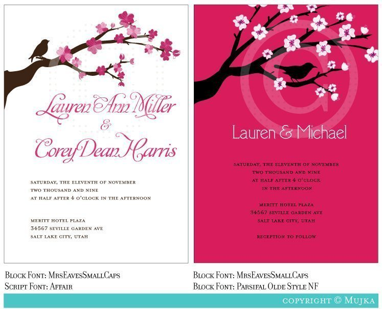 Lovely Invitation Templates  Mujka Chic    Mygrafico