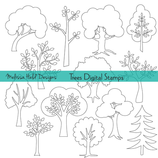 Trees Digital Stamps Digital Stamps Melissa Held Designs    Mygrafico