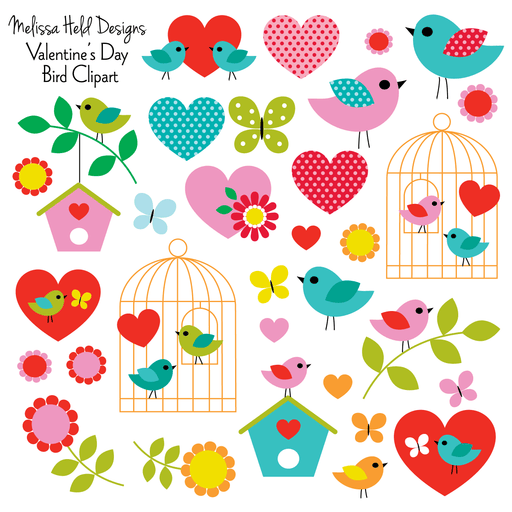 Bird Valentine's Day Clipart Cliparts Melissa Held Designs    Mygrafico
