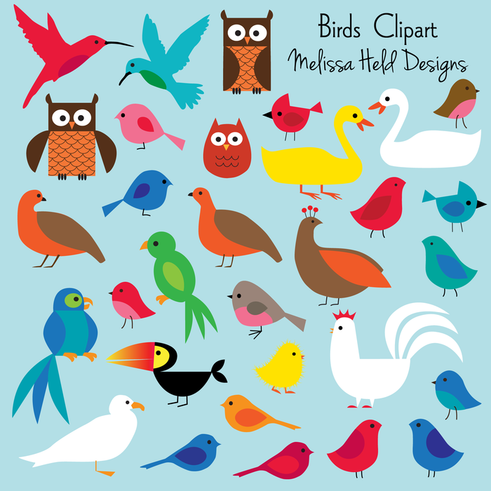 Birds Clipart Clipart & Digital Paper Melissa Held Designs    Mygrafico