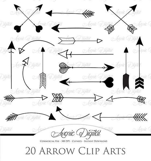 Black Arrow Clipart  Avenie Digital    Mygrafico