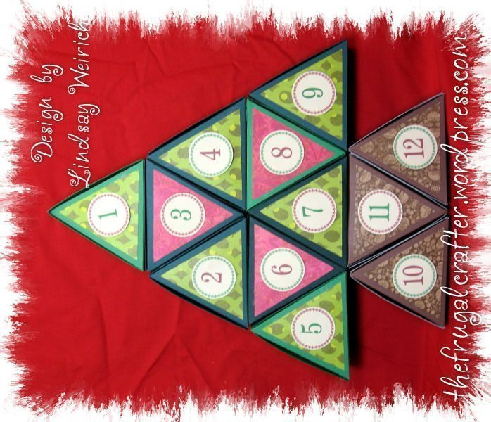 3-D Advent Calendar and Favor Kit SVG Cutting Templates Lindsay's Stamp Stuff    Mygrafico