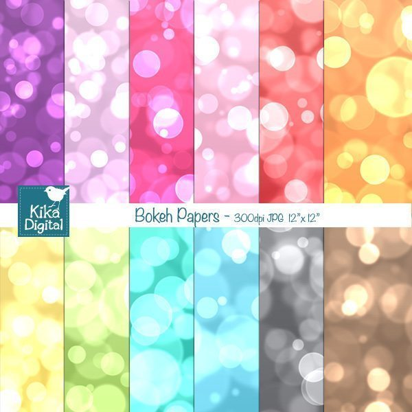 Color Bokeh Papers  Kika Digital    Mygrafico