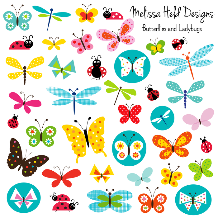 Butterflies and Ladybugs Clipart Cliparts Melissa Held Designs    Mygrafico
