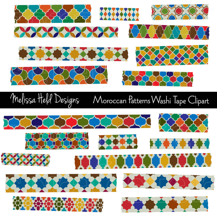 Moroccan Patterns Washi Tape Clipart Cliparts Melissa Held Designs    Mygrafico