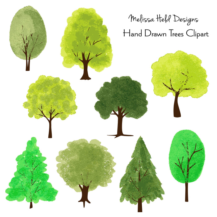 Hand Drawn Trees Clipart Cliparts Melissa Held Designs    Mygrafico