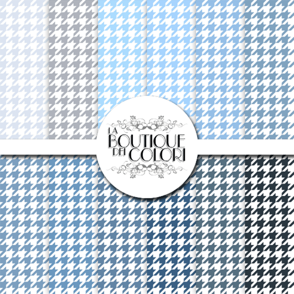 Blue Houndtooth Digital Papers  La Boutique Dei Colori    Mygrafico