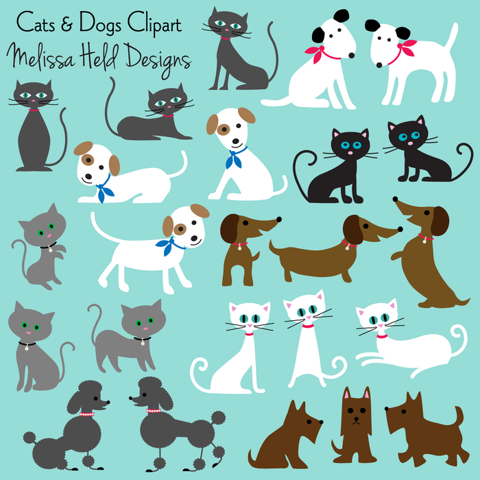 Cats & Dogs Clipart Cliparts Melissa Held Designs    Mygrafico