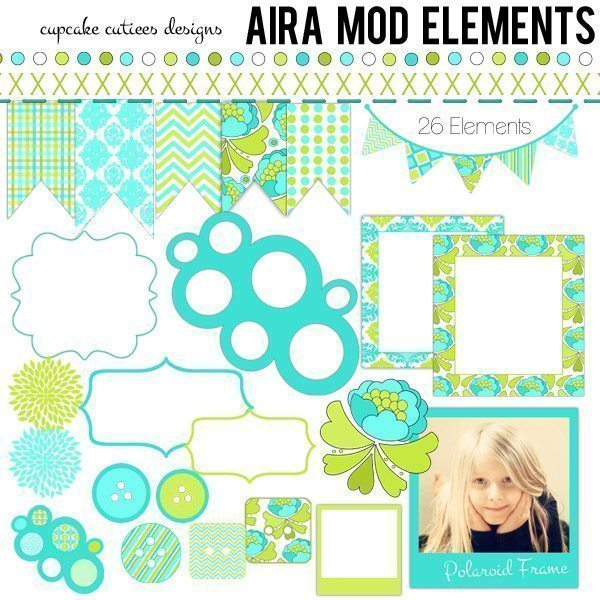 Aira Mod Clip art Elements  Cupcake Cutiees    Mygrafico