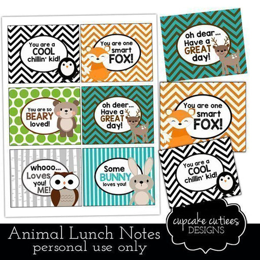 Animal Crackers Lunch Box Digital Note Tags Printable Templates Cupcake Cutiees    Mygrafico