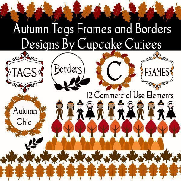 Autumn Tags Frames and Borders  Cupcake Cutiees    Mygrafico