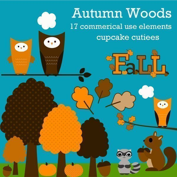 Autumn Woods  Cupcake Cutiees    Mygrafico