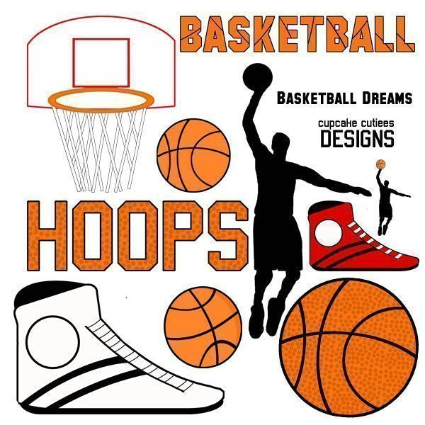 Basketball Dreams Digital Clip Art Set  Cupcake Cutiees    Mygrafico