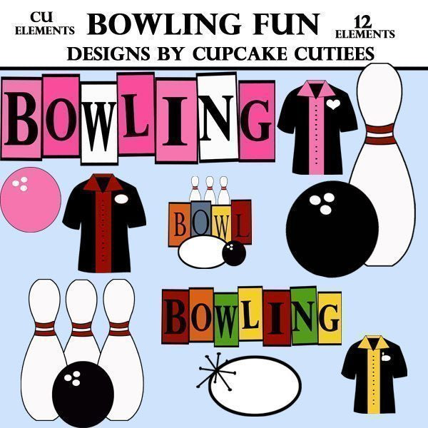 Bowling fun Elements  Cupcake Cutiees    Mygrafico
